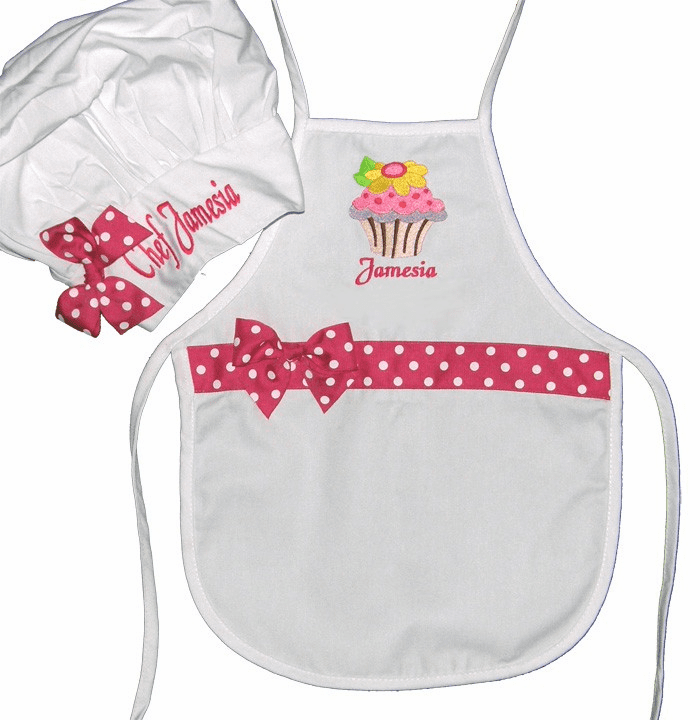 Personalized Kids Chef Apron & Hat Sets