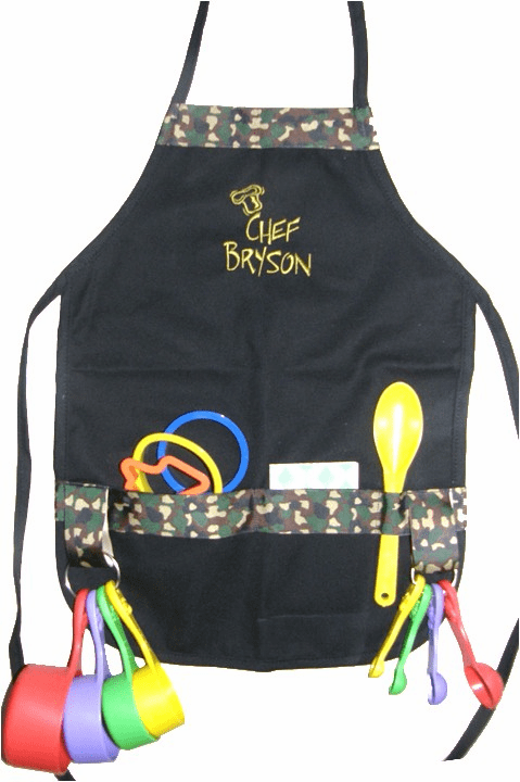 Personalized Kids Cooking Apron Sets