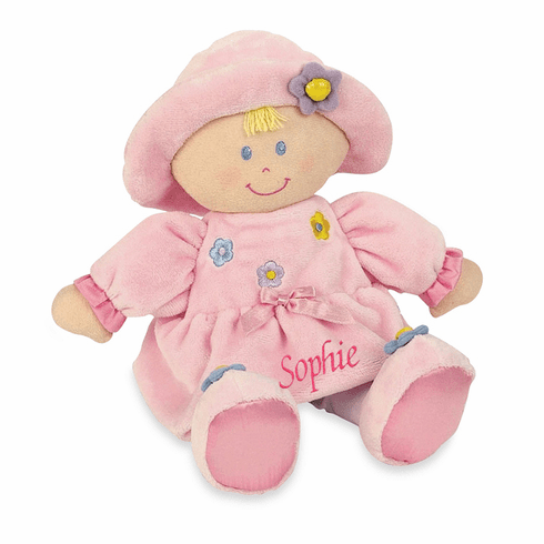 "PERSONALIZED Kids Preferred Kira Soft Pink Baby Doll 11"" Tall"