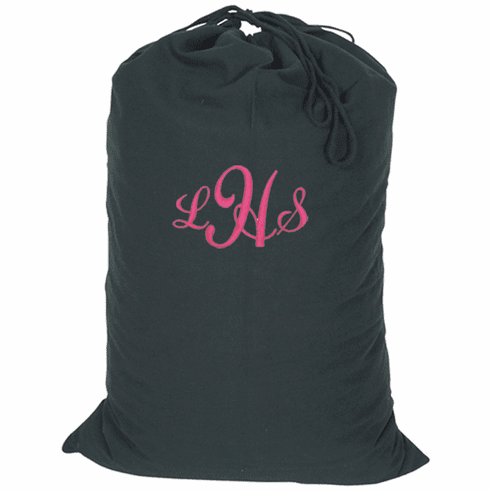 Personalized Large Black Heavy Duty Baracks Bag Laundry Bag