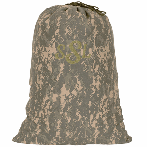 Personalized Large Heavy Duty Desert Camouflage Laundry Bag