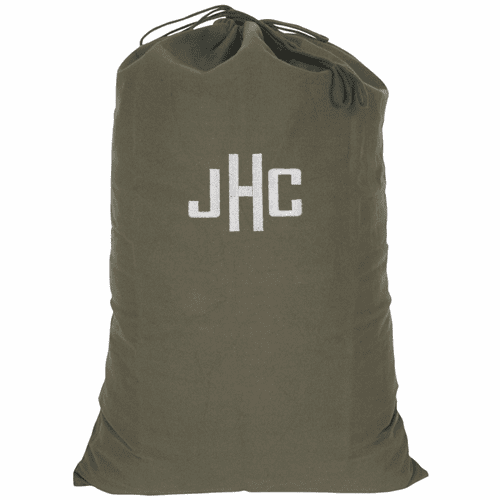 Personalized Large Heavy Duty Olive Drab Barracks Laundry Bag