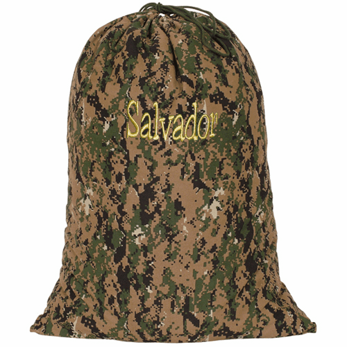 Personalized Large Heavy Duty Woodland Camouflage Laundry Bag