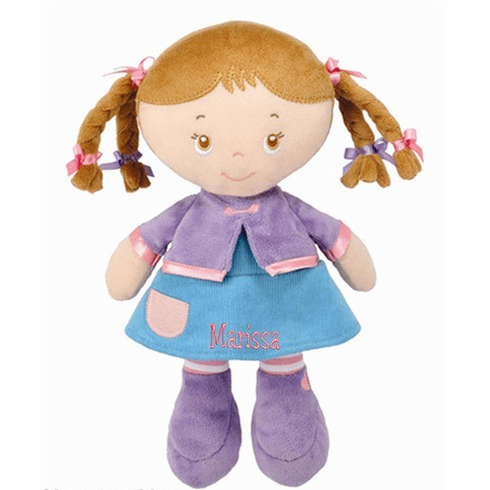 Personalized Maya Brunette Doll by Kids Preferred 11""