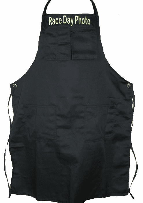 Personalized Men's Black Shop Apron Mulitiple Pockets