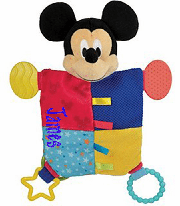 Personalized Mickey Mouse Flat Teether Blanky by Disney Baby