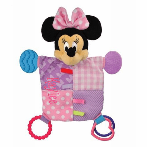 Personalized Minnie Mouse Flat Teether Blankie by Disney Baby