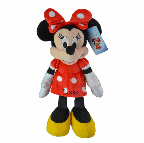 Personalized Minnie Mouse Plush Dolly in Red Dot Dress 11 inches 2+