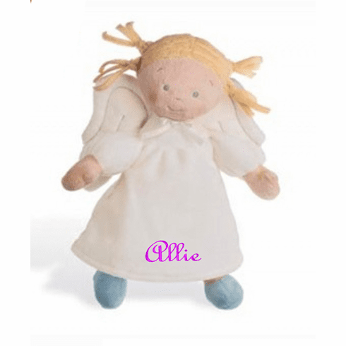 """PERSONALIZED NAB Little Angel Soft Light Blond Baby Doll 10"""" Tall"""