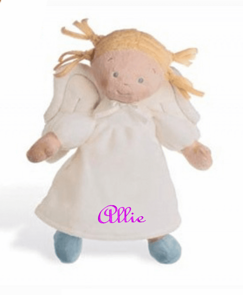 "PERSONALIZED NAB Little Angel Soft Light Blond Baby Doll 10"" Tall"
