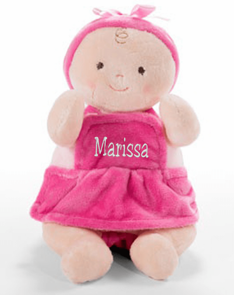 "PERSONALIZED NAB Rosy Cheeks Ruffles Light Baby Doll 10"" Tall"