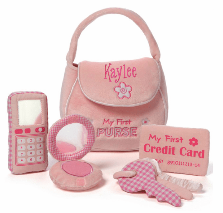 Personalized New Design Baby Gund First Purse Playset