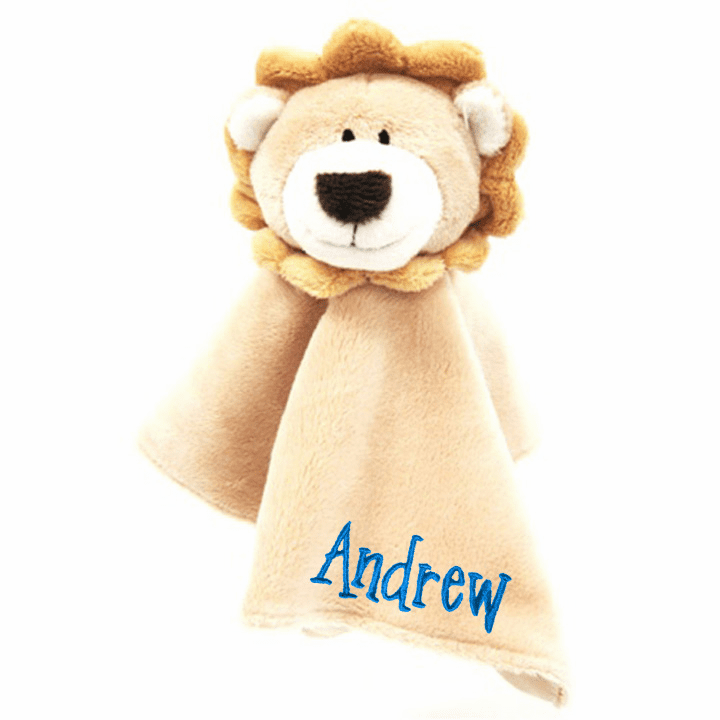 Personalized Noah's Friends Lion Snuggly Blankie by Tales of Glory