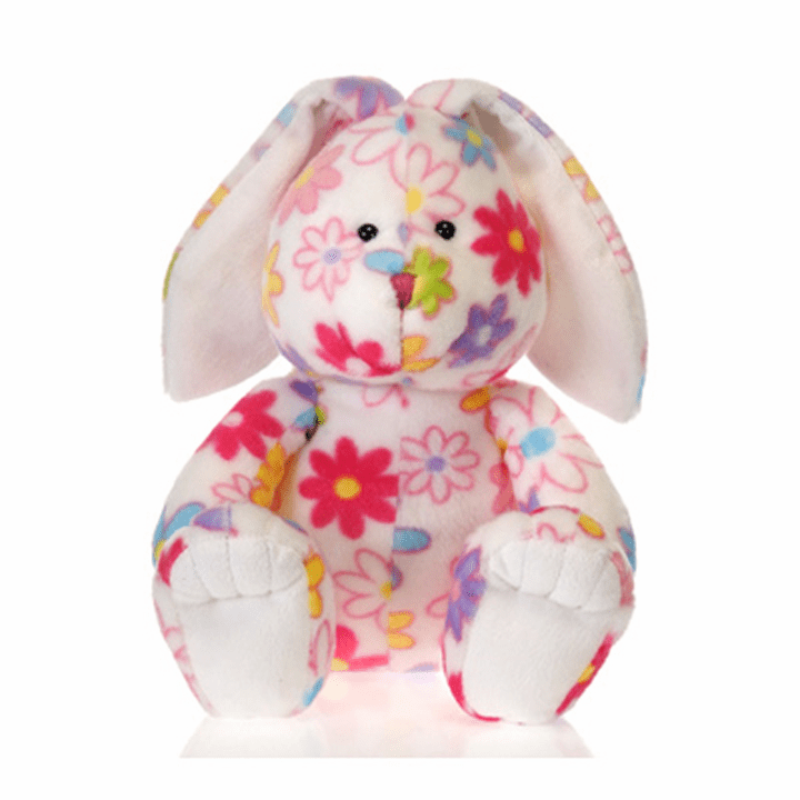 "Personalized ""Pick Me"" Floral Print Super Soft Plush Bunny"