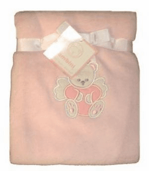 Personalized Pink Plush Fleece Blanket Personalize Embroidery