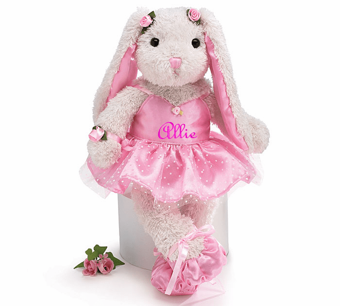 Personalized Plush Ballerina Bunny 15in