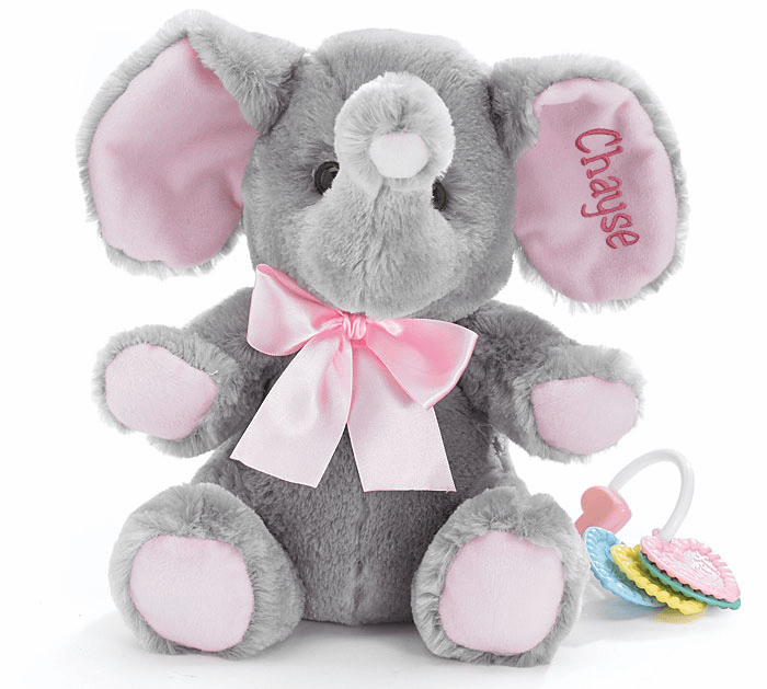 Personalized Plush Elephants