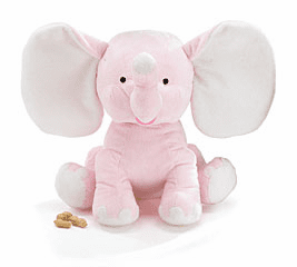 Personalized Plush Pink Elephant Baby's Name & Birthdate