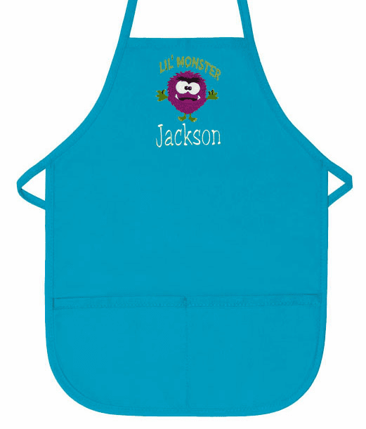 Personalized Pocket Kids Cooking Craft Painting Aprons