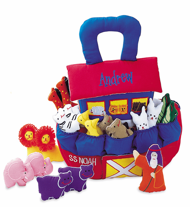 Personalized Pockets of Learning S.S. Noah's Ark Soft Toy