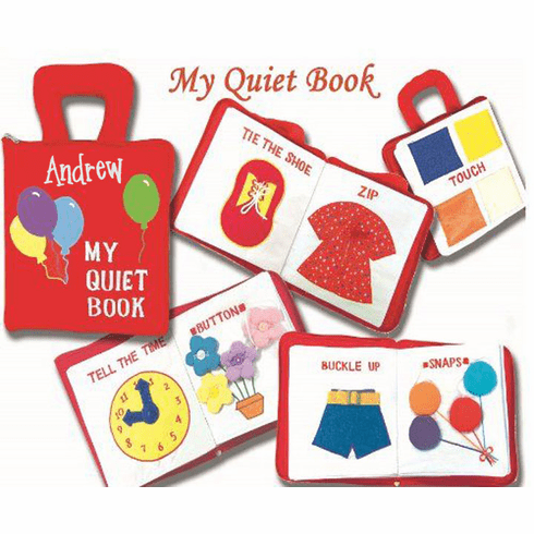 Personalized Red Soft Skills My Quiet Book
