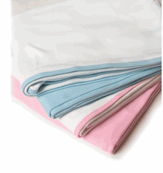 Personalized Reversible 100% Cotton Interlock Infant Blanket Pink or Blue Personalize Me