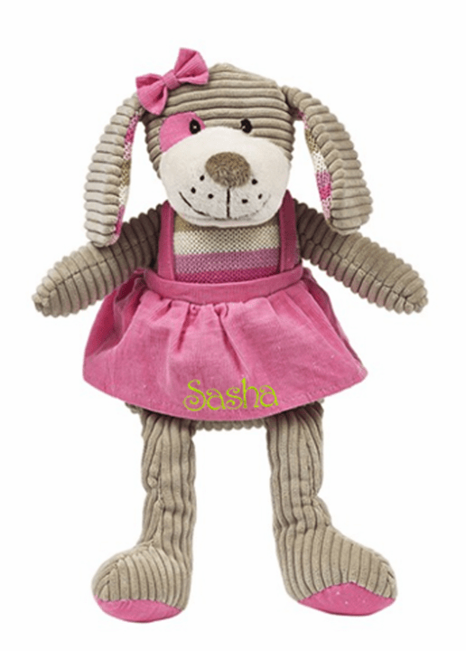 "PERSONALIZED Rosie the Dog Dressed in Pink 16"" tall"