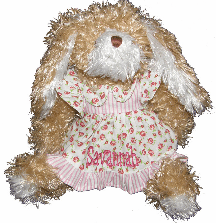Personalized Rosie the Rosebud Super Soft and Fuzzy Sweet Baby Bunny