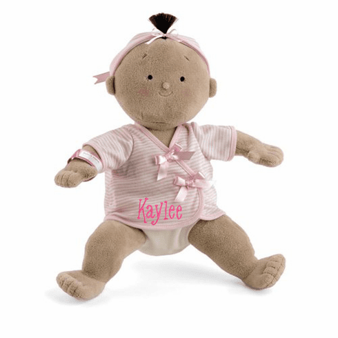 "PERSONALIZED Rosy Cheeks Soft Tan Girl Baby Doll 15"" Tall 2856"