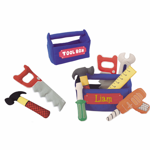 """Personalized Royal Blue Soft Unbreakable Tool Set """"Just Like Daddy's"""""""