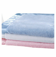 Personalized Satin Trim Tahoe Microfleece Baby Blanket 3 Colors Personalize Me