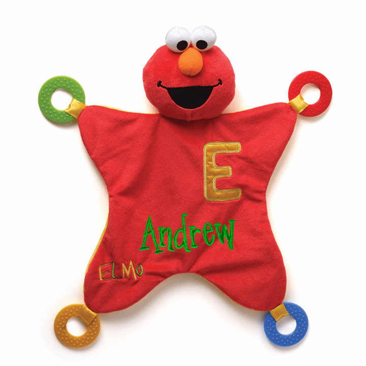 PERSONALIZED Sesame Street Red & Yellow Large Elmo Activity Blanket