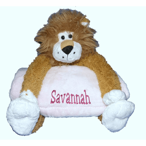 Personalized Snugglie Blanket Lion Plush & Your Choice Blanket Color