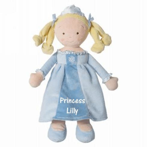 "PERSONALIZED Soft Blond Snowflake Princess Doll 14"" Tall 6646"