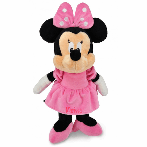 Personalized Soft Pink Minnie Mouse Plush Baby Dolly 12 inches