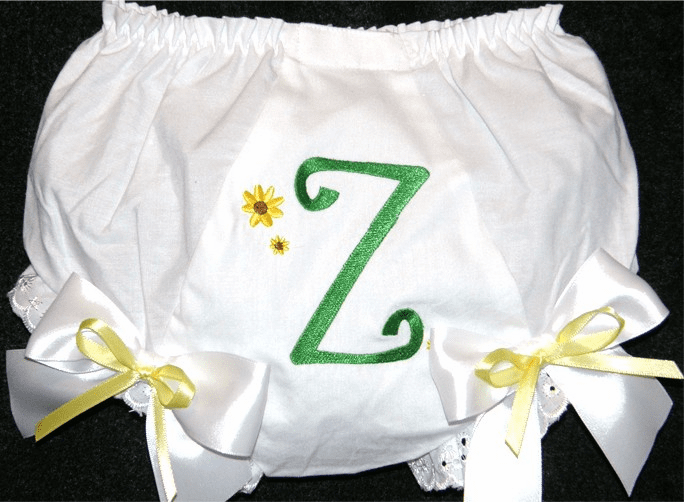 Personalized Sunflower Diaper Cover Bloomers Double Bows