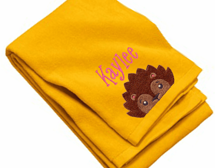 "Personalized Terry Velour Beach/Bath Towel Hedgehog Design 35""x 62"""