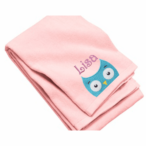 "Personalized Terry Velour Beach/Bath Towel Owl Design 35""x 62"""
