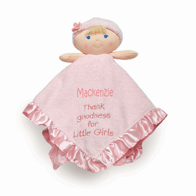 PERSONALIZED Thank Goodness for Little Girls Snuggly Blankie