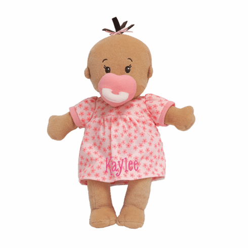 Personalized Wee Baby Stella Beige with Brown Tuft