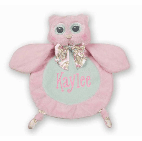 PERSONALIZED Wee Lil' Hoots Owl Security Snuggle Blanket