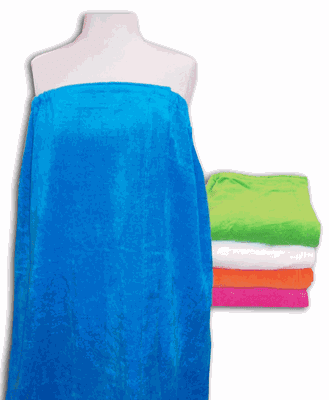 Plus Size - Womans Terry Velour Spa Wrap 5 Colors Personalize Me