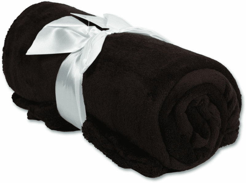 "Personalized Embroidered Plush Fleece Blanket - BLACK 50"" x 60"""
