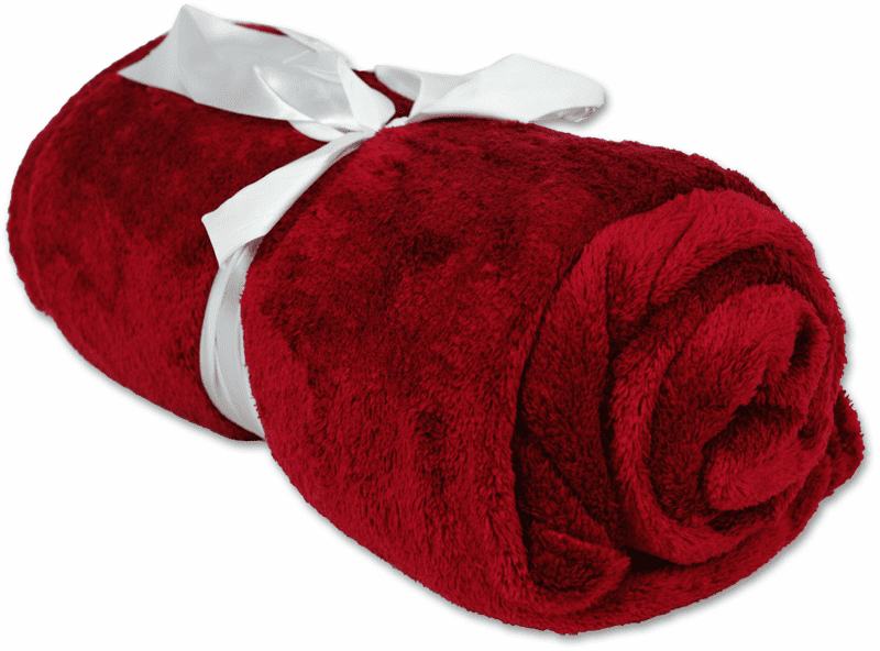 """Personalized Embroidered Plush Fleece Blanket - Burgundy 50"""" x 60"""""""