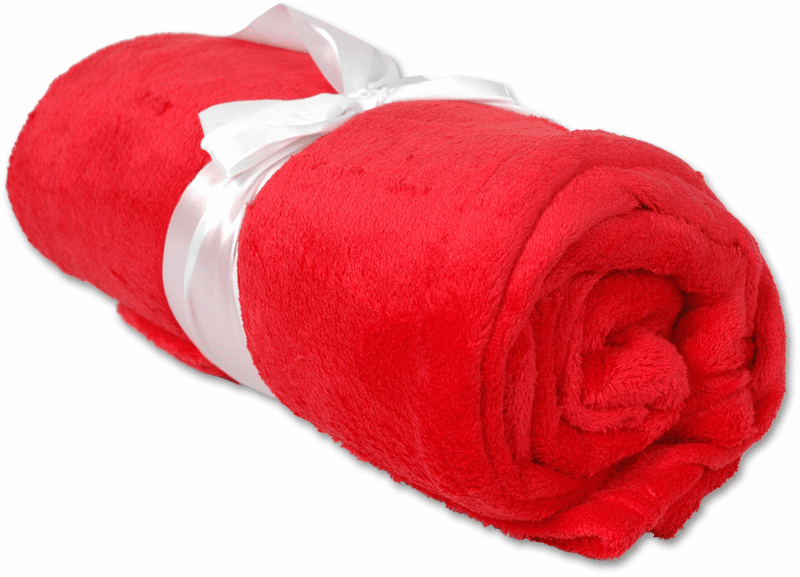 """Personalized Embroidered Plush Fleece Blanket - Red 50"""" x 60"""""""