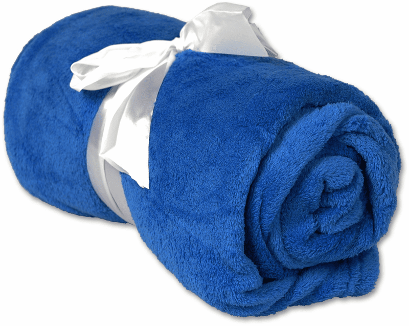 """Personalized Embroidered Plush Fleece Blanket - Royal Blue 50"""" x 60"""""""