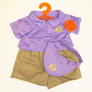 Purple Golf Outfit Plush or Doll Clothing - PERSONALIZE ME!