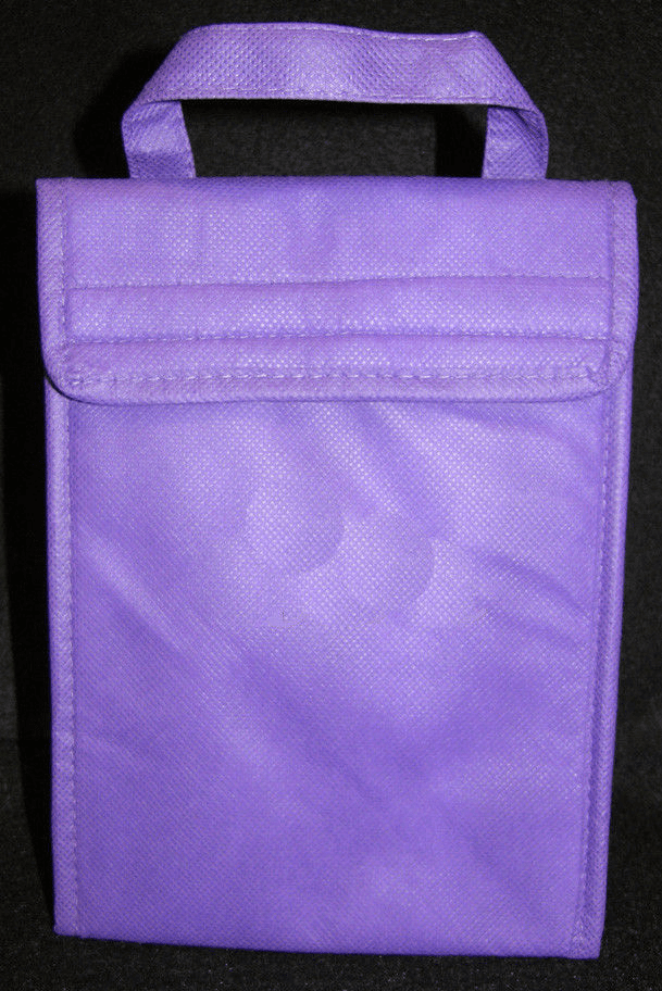 Purple Insulated ECO Lunch Bag Tote Non Woven Polypro