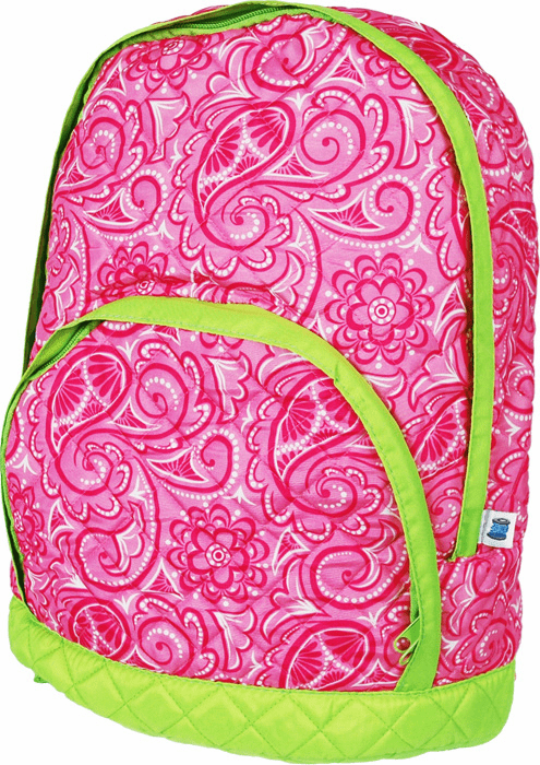 Quilted Backpacks Hot Pink Paisley