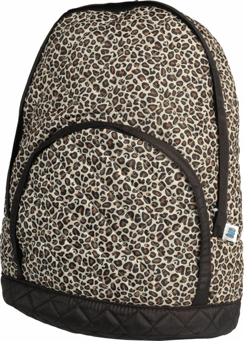 Quilted Backpacks Leopard Print